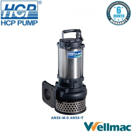 """HCP AN33 3"""" Dewatering Submersible Wastewater Pump"""